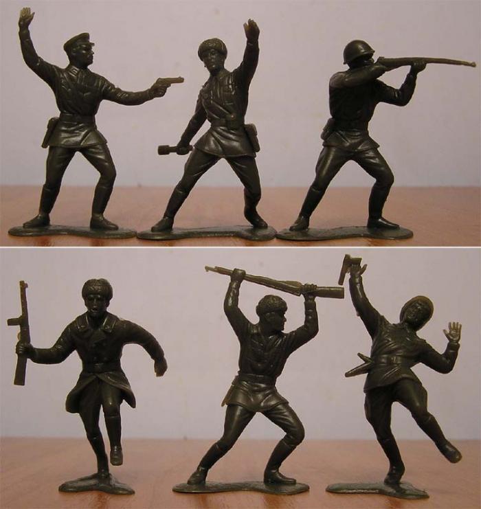 Советские игрушки солдатики. Солдатики производства СССР.