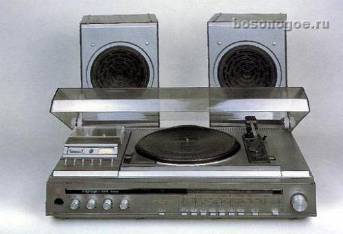 Проигрыватель винила и кассет с радио сириус 324.